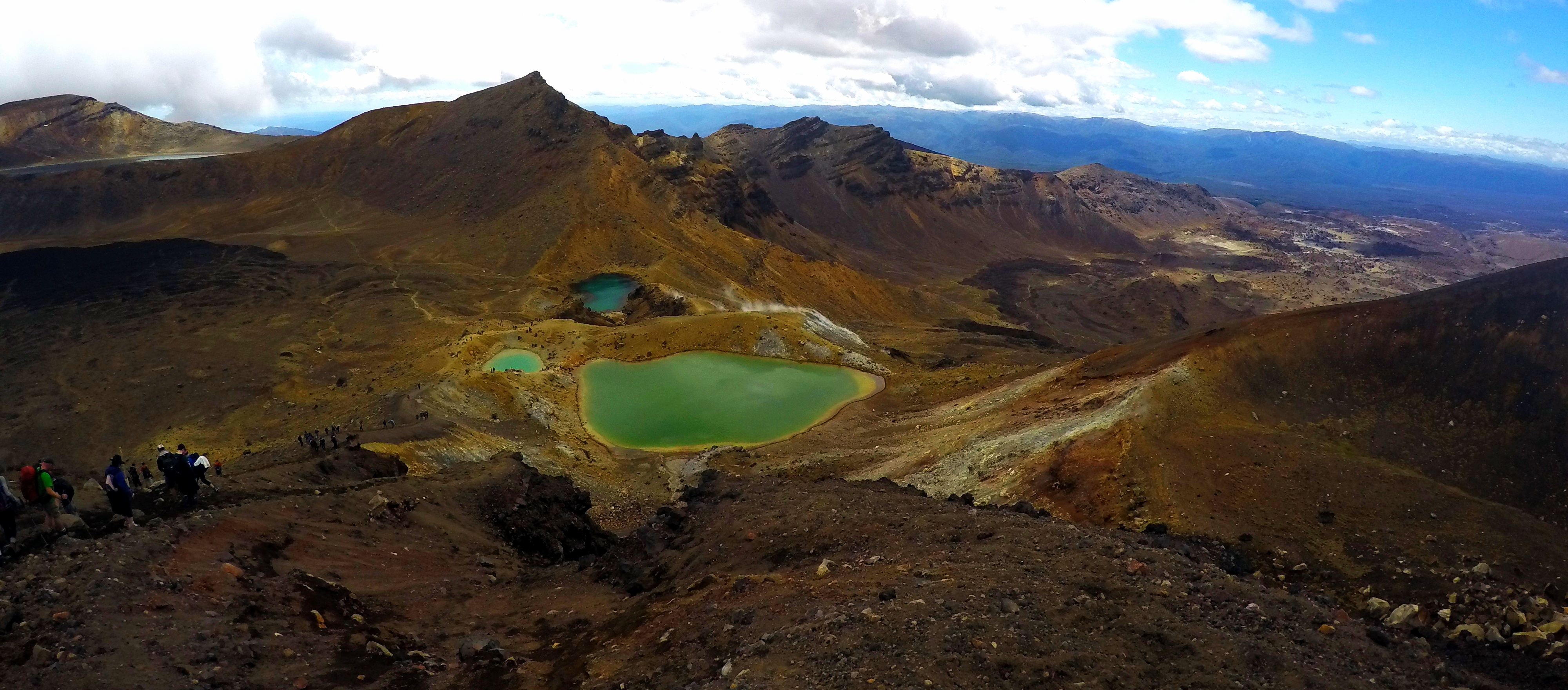 Hiking Trail: Tongariro Crossing, New Zealand